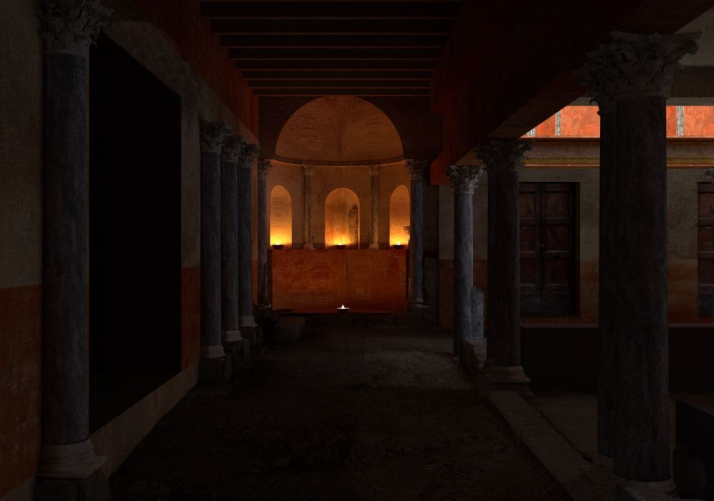 Arkeographos -Casa de los marmoles. Exedra - fase 3