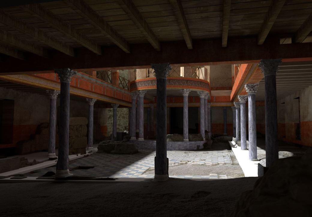 Arkeographos -Casa de los marmoles. Peristilo b - fase 3