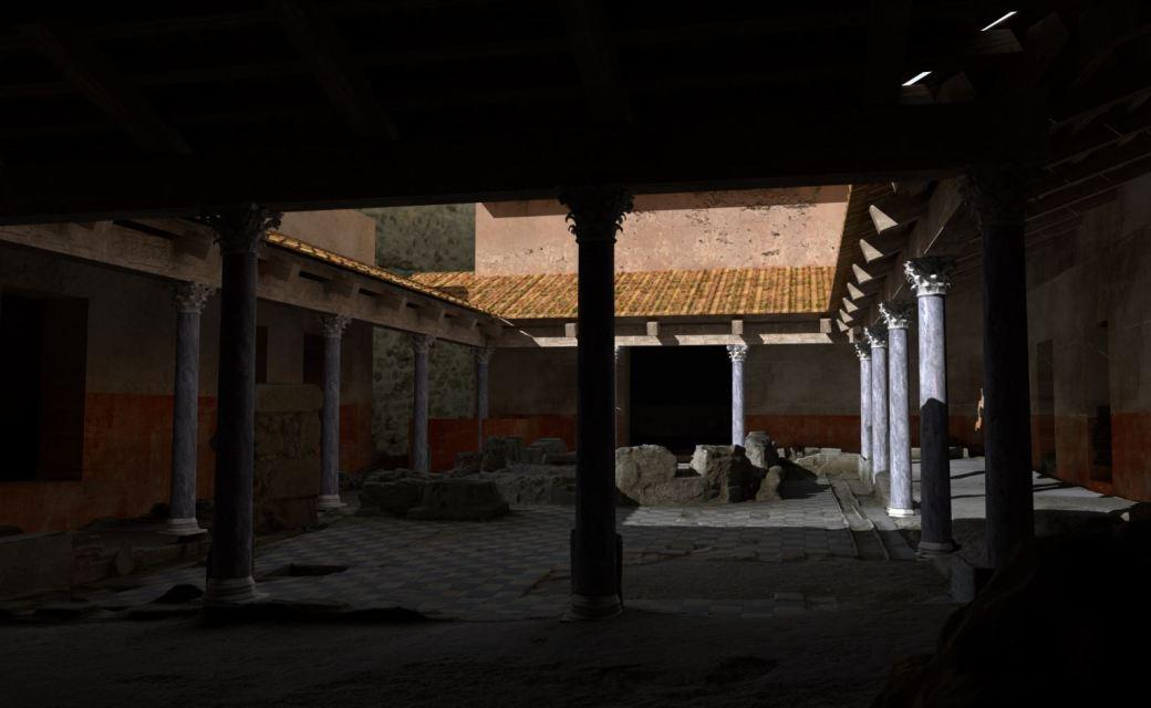 Arkeographos -Casa de los marmoles. Peristilo - fase 2