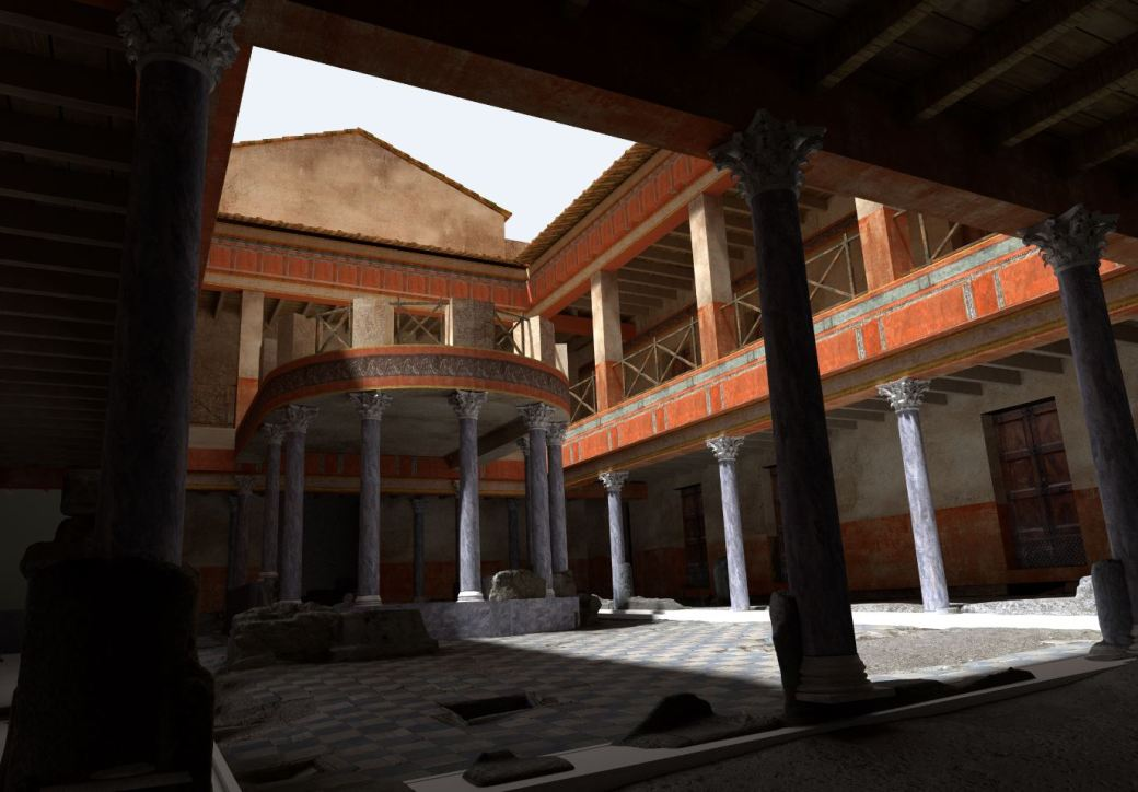 Arkeographos -Casa de los marmoles. Peristilo - fase 3