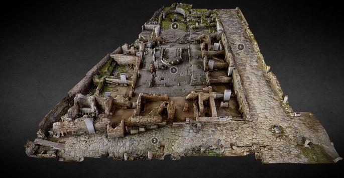 Modelo fotogramétrico de la Casa de los mármoles